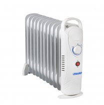 11 FIN MINI OIL RADIATOR HEATER 1200W +SCP03 K1