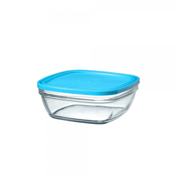 11cm CARRE SQ BOWL BLUE LID 9020AM12 K12