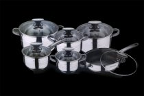 12PCS COOKWARE SET GLASS LID K2