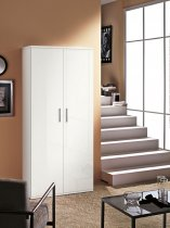 NETTUNO 2 DOOR CABINET W/6 SHELVES WHT GLOSS 42P06BL