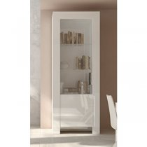 MAX 2 DR CABINET WHITE W/GLASS DOOR 202M09BL