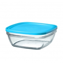 20cm CARRE SQ BOWL BLUE LID 9023AM06 K6