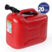 20L RED PLASTIC TANK