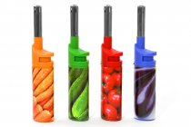 25pcs VEGETABLE GAS LIGHTER F024