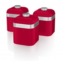 3PCS CANISTER RETRO RED SWKA1020RN