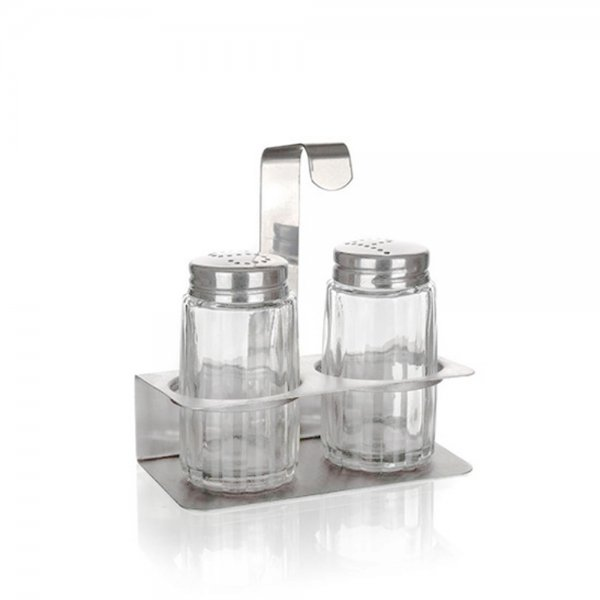 3PCS SALT & PEPPER W/STAND MONO 4281020 K96
