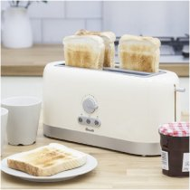 4 SLICE LONG SLOT WHITE TOASTER ST10090N