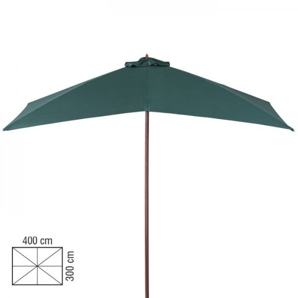 4m X 3m WOOD UMBRELLA K1