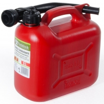 5L RED PLASTIC TANK