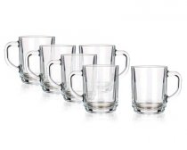 6PCS SET GLASS MUGS CENTA 250ML 05801000