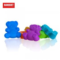 6PCS SMALL BEAR MOULD 3122070MIX K12