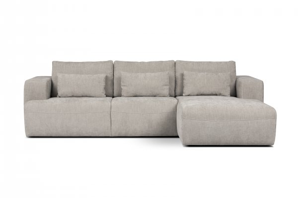 ABEL SLIDING CORNER SOFA - SILVER - RIGHT