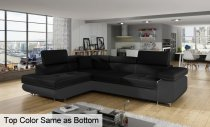 ANTON CORNER SOFA FABRIC 275x202x90cm DARK BROWN RIGHT