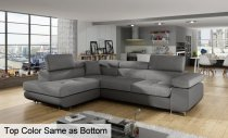 ANTON CORNER SOFA FABRIC *LEFT*275x202x90cm  D/GREY