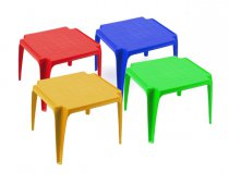 BABY TABLE COLOR RED/BLUE/GREEN/PINK 51x56CM