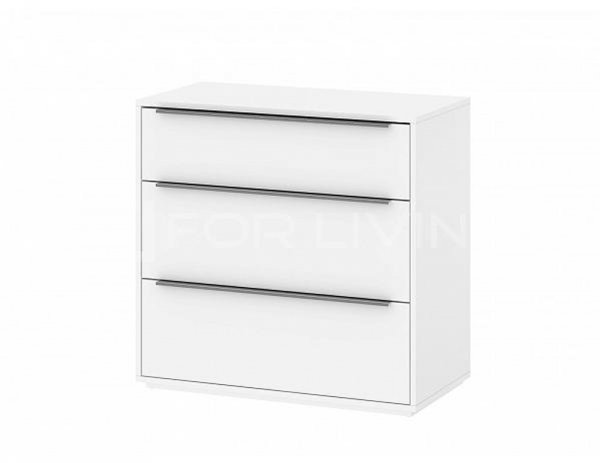 BARCELONA CHEST 3 DRAWERS WHITE