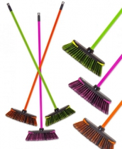 BROOM W/HANDLE FLOU COLOR CODED NEON 77.20 K24