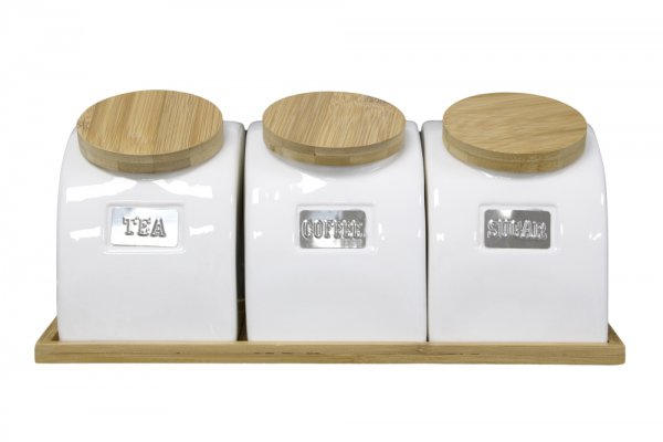 CANISTER SET W/TRAY