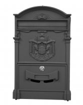CAST ALUMINUM LETTER BOX ROYAL BLACK
