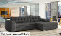 1PC RIGHT CONFORTI CORNER FABRIC SOFA 270x165x80cm DARK GREY