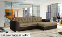 CONFORTI CORNER FABRIC SOFA Brown270x165x80cm Right