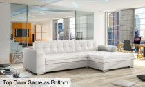 CONFORTI CORNER SOFA 270x165x80cm WHITE *1 left*