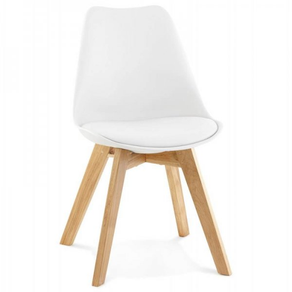 DINING CHAIR PU 45.5X83CM WHITE