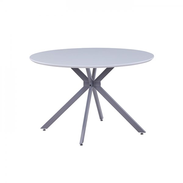ARTHUR ROUND DINING TABLE - WHITE GLOSS