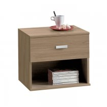 ECO NIGHT STAND 1 DRAWER 96C02P NOCE PURO