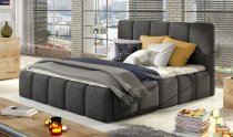 EDVIGE STORAGE DOUBLE BED WITH MATTRESS 160x200cm DARK GREY