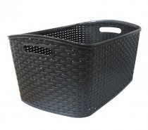 ELEGANCE RATTAN LAUNDRY BASKET ASS