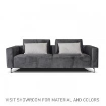 ELSA 3 SEATER SOFA - GREY WITH BLUE CUSHIONS
