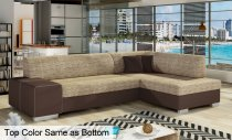 FABIO CORNER FABRIC SOFA 268x167x73cm BROWN