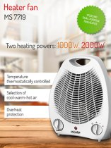 FAN HEATER MESKO +AP2968