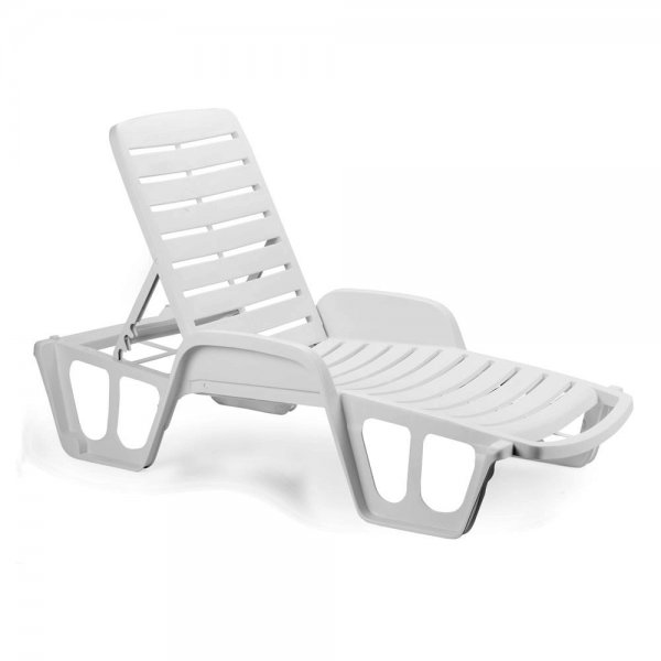FISSO STACKABLE SUNBED WHITE