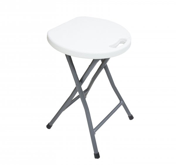 FOLDING ABS STOOL WHITE 33x45cm