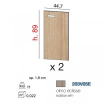 GALILEO SET OF DOORS *2 FOR CABINET 89cm ECLIPSE ELM 203V05E