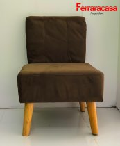 GREENWAY SOFA ARMCHAIR BROWN FABRIC