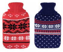 HOT WATER BOTTLE W/KNITTED COVER