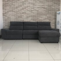 HUGO VILLE 3 SEATER RECL CORNER SOFA RIGHT GREY