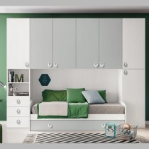 HURRA ONE WALL BEDROOM P202.BFR.GRI.DM