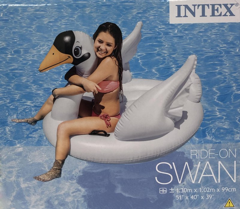 Inflatable Sofa Malta: Ferraracasa INTEX GIANT INFLATABLE SWAN 1.3X1M