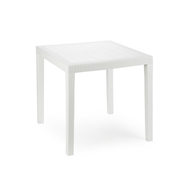 KING SQ TABLE WHITE 79x79x72h cm