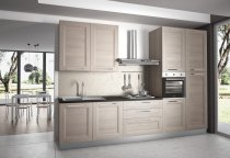 KITCHEN OLMO EMBOSED WITH LONG HANDLES L330xH240cm