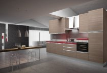 KITCHEN OLMO WITH ALUMINUM SEEMLESS HANDLES L360xH240cm