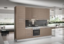 KITCHEN OLMO WITH STAINLESS STEEL HANDLES L300xH240cm