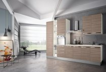 KITCHEN OLMO WITH WHITE LONG HANDLES L330xH240 cm