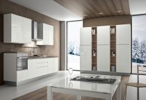 KITCHEN WHITE GLOSS WITH OLMO L300xL240xH240cm