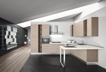 L SHAPE KITCHEN WITH BREAKFAST TABLE L375x280x240cm olmo