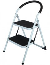 2 WIDE STEP STEEL LADDER * K4